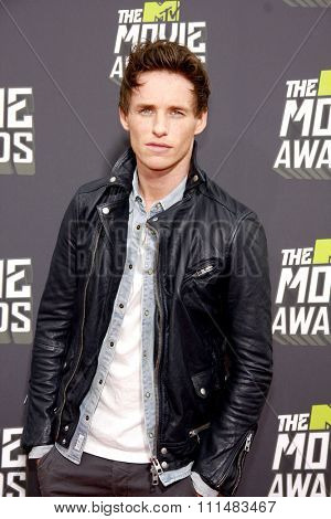 Eddie Redmayne at the 2013 MTV Movie Awards held at the Sony Pictures Studios in Los Angeles, United States, 140413.