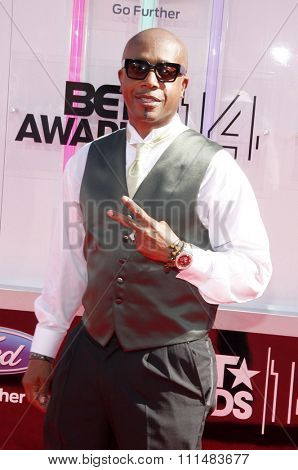 MC Hammer at the 2014 BET Awards held at the Nokia Theatre L.A. Live in Los Angeles, United States, 290614.