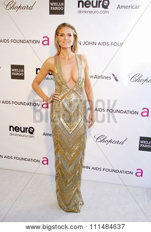 Heidi Klum at the 21st Annual Elton John AIDS Foundation Academy Awards Viewing Party held at the Pacific Design Center in West Hollywood on February 24, 2013.