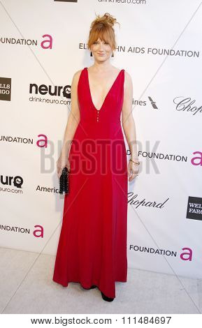 Judy Greer at the 21st Annual Elton John AIDS Foundation Academy Awards Viewing Party held at the Pacific Design Center in West Hollywood on February 24, 2013.