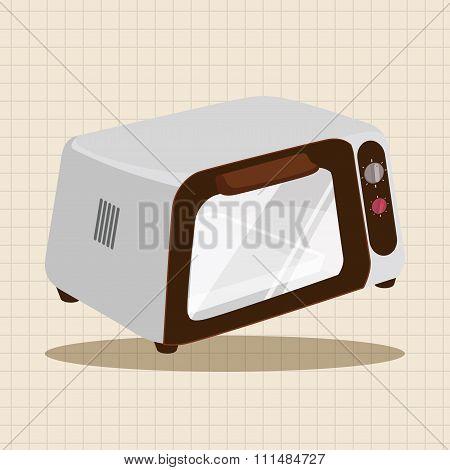 Home Appliances Theme Microwave Elements