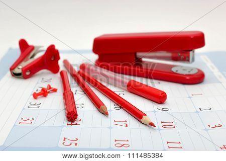 Stationery red.