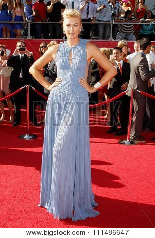 Maria Sharapova at the 2012 ESPY Awards held at the Nokia Theatre L.A. Live in Los Angeles on July 11, 2012.