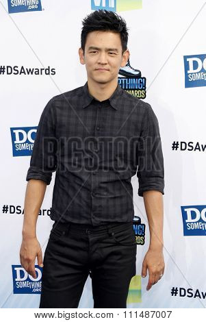 John Cho at the 2012 Do Something Awards held at the Barker Hangar in Santa Monica on August 19, 2012.