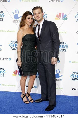 Jamie-Lynn Sigler and Cutter Dykstra at the 2012 American Giving Awards held at the Pasadena Civic Auditorium in Pasadena on Decmber 7, 2012.