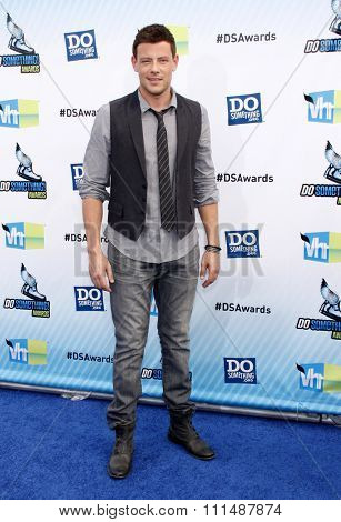 Cory Monteith at the 2012 Do Something Awards held at the Barker Hangar in Santa Monica on August 19, 2012.