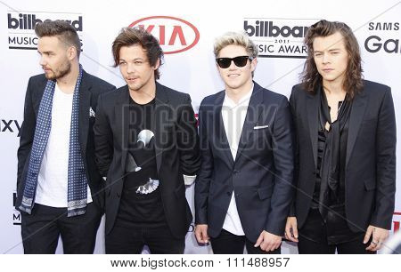 One Direction at the 2015 Billboard Music Awards held at the MGM Garden Arena in Las Vegas, USA on May 17, 2015.
