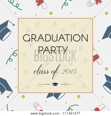 Graduation Celebrating Invitation Or Postcard Background
