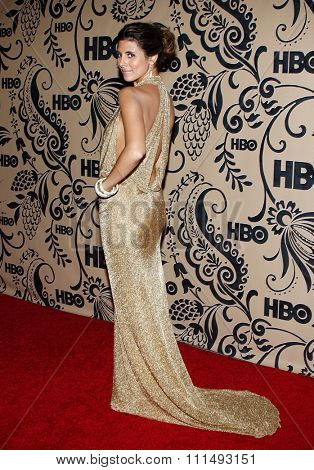 Jamie-Lynn Sigler at the HBO's Post Emmy Awards Reception held at the Pacific Design Center in West Hollywood on September 20, 2009.