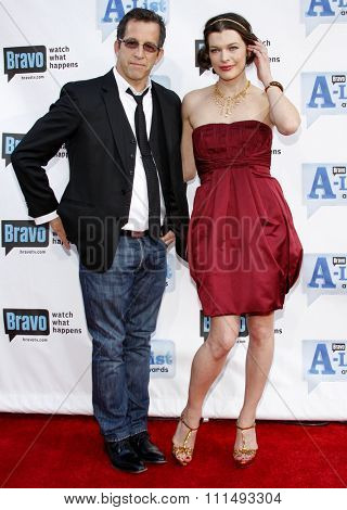 Kenneth Cole and Milla Jovovich at the 2009 Bravo's A-List Awards held at the Orpheum Theatre in Los Angeles on April 5, 2009.