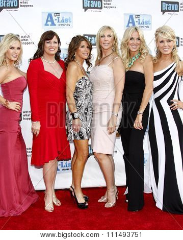 Tamra Barney, Jeanna Keough, Lynne Curtin, Vicki Gunvalson, Lauri Waring and Gretchen Rossi at the 2009 Bravo's A-List Awards held at the Orpheum Theatre in Los Angeles on April 5, 2009.