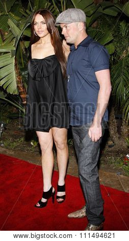 Lindsay Lohan and Claus Hjelmbak attend the Scandinavian Style Mansion held at the Private Residence in Beverly Hills, California, United States on March 14, 2008.