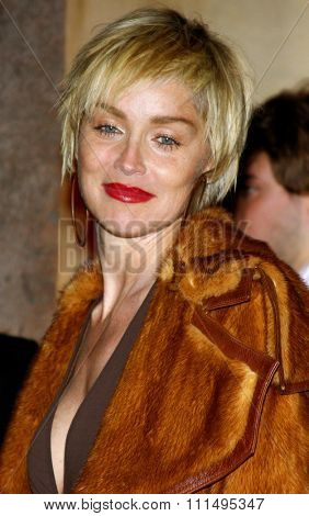 Sharon Stone attends the Scandinavian Style Mansion Party held at the Private Residence in Bel Air, California, United States on December 1, 2007.