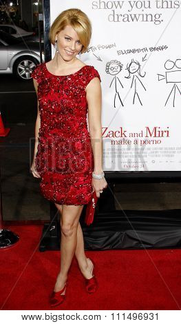 Elizabeth Banks at the Los Angeles premiere of 'Zack And Miri Make A Porno' held at the Grauman's Chinese Theater in Hollywood, California, USA on October 20, 2008.