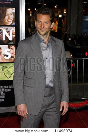Bradley Cooper at the Los Angeles premiere of 'Valentine's Day' held at the Grauman's Chinese Theater in Hollywood on February 8, 2010.