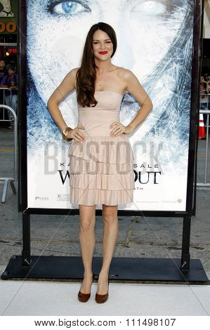 Jacinda Barrett at the Los Angeles premiere of 'Whiteout