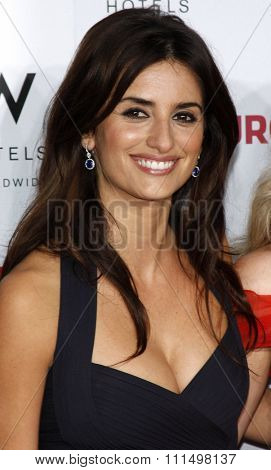 Penelope Cruz at the Los Angeles premiere of 'Vicky Cristina Barcelona' held at the Mann Village Theatre in Westwood on August 4, 2008.