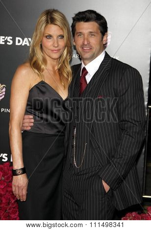 Jillian Dempsey and Patrick Dempsey at the Los Angeles premiere of 'Valentine's Day' held at the Grauman's Chinese Theater in Hollywood on February 8, 2010.
