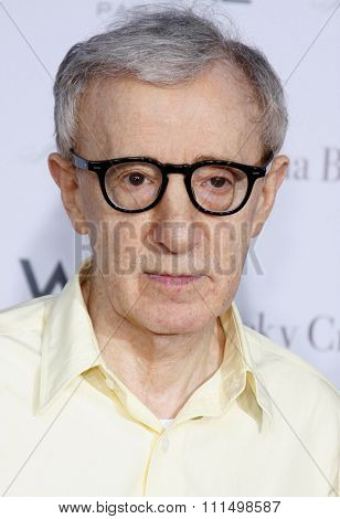 Woody Allen at the Los Angeles premiere of 'Vicky Cristina Barcelona' held at the Mann Village Theatre in Westwood on August 4, 2008.