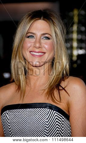 Jennifer Aniston at the Los Angeles premiere of 'Wanderlust' held at the Mann Village Theatre in Westwood on February 16, 2012.