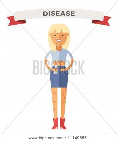 People ill vector illustration