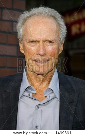 Clint Eastwood at the Los Angeles premiere of 'Trouble With The Curve' held at the  Mann's Village Theatre in Westwood on September 19, 2012.