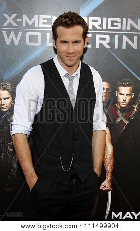 Ryan Reynolds at the Los Angeles premiere of 'X-Men Origins: Wolverine' held at the Grauman's Chinese Theatre in Hollywood on April 28, 2009.