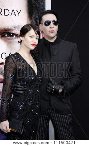 Marilyn Manson at the Los Angeles premiere of