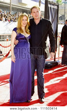 Gillian Anderson and husband at the World Premiere of