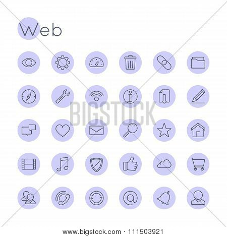 Vector Round Web Icons