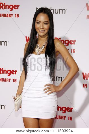 Tristin Mays at the Los Angeles premiere of 'The Wedding Ringer' held at the TCL Chinese Theater in Hollywood on January 6, 2015.