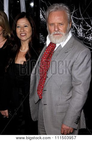 Anthony Hopkins and Stella Arroyave at the Los Angeles premiere of 'The Wolfman' held at the ArcLight Cinemas in Hollywood on February 28, 2010.