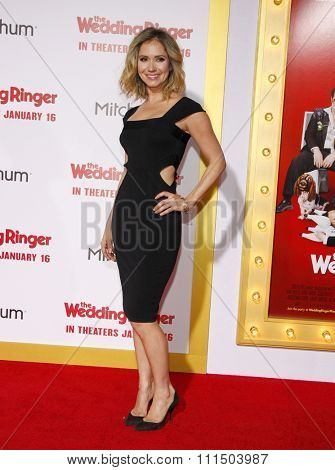 Ashley Jones at the Los Angeles premiere of 'The Wedding Ringer' held at the TCL Chinese Theater in Hollywood on January 6, 2015.