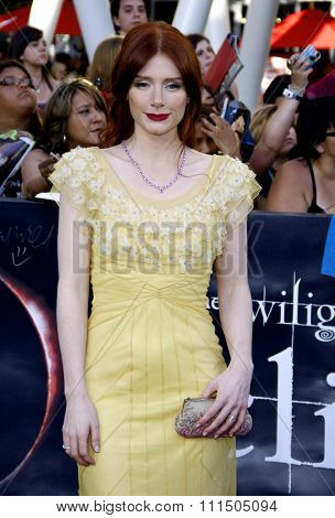 Bryce Dallas Howard at the Los Angeles premiere of 'The Twilight Saga: Eclipse' held at the Nokia Theatre L.A. Live in Los Angeles on June 24, 2010.