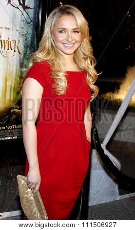 Hayden Panettiere at the Los Angeles premiere of 'The Spiderwick Chronicles'  held at the Paramount Studios in Hollywood on January 29, 2008.