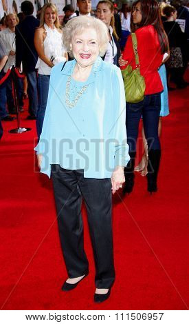 Betty White at the Los Angeles premiere of 'The Proposal' held at the El Capitan Theatre in Hollywood on June 1, 2009.