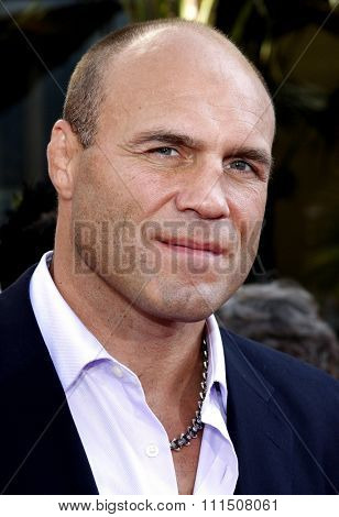 Randy Couture at the Los Angeles premiere of 'The Mummy: Tomb Of The Dragon Emperor' held at the Gibson Amphitheatre in Universal City on July 27, 2008.
