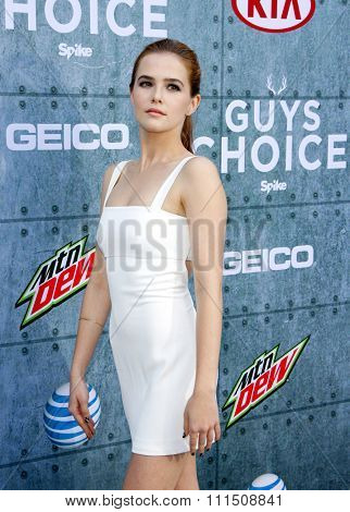 Zoey Deutch at the 2015 Spike TV's Guys Choice Awards held at the Sony Pictures Studios in Culver City, USA on June 6, 2015.