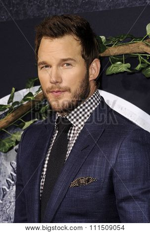 Chris Pratt at the Los Angeles premiere of 'Jurassic World' held at the Dolby Theatre in Hollywood, USA on June 9, 2015.