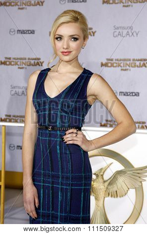Peyton List at the Los Angeles premiere of 'The Hunger Games: Mockingjay - Part 1' held at the Nokia Theatre L.A. Live in Los Angeles on November 17, 2014.