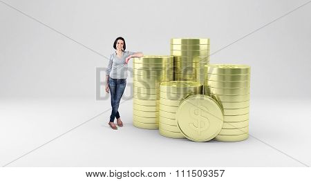 Girl With Coins