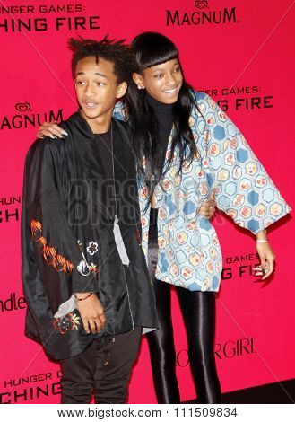 Jaden Smith and Willow Smith at the Los Angeles premiere of