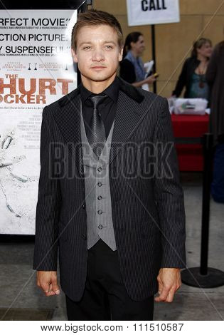 Jeremy Renner at the Los Angeles premiere of 'The Hurt Locker' held at the Egyptian Theatre in Hollywood on June 5, 2009.