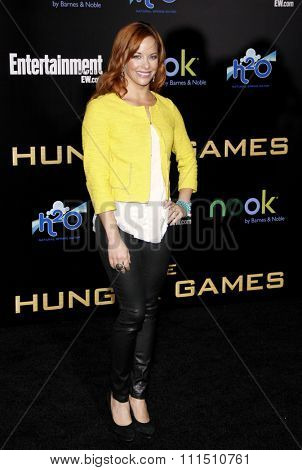 Amy Paffrath at the Los Angeles premiere of 'The Hunger Games' held at the Nokia Theatre L.A. Live in Los Angeles on March 12, 2012.