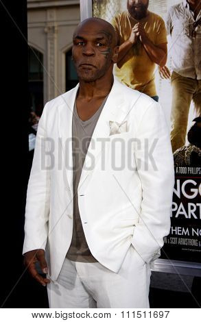 Mike Tyson at the Los Angeles premiere of 'The Hangover Part II' held at the Grauman's Chinese Theatre in Hollywood on May 19, 2011.