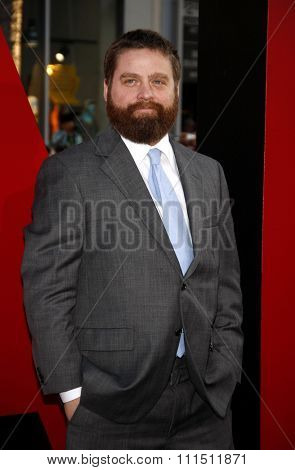 Zach Galifianakis at the Los Angeles premiere of 'The Hangover Part II' held at the Grauman's Chinese Theatre in Hollywood on May 19, 2011.