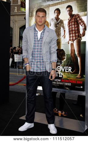 Blake Griffin at the Los Angeles premiere of 'The Hangover Part II' held at the Grauman's Chinese Theatre in Hollywood on May 19, 2011.