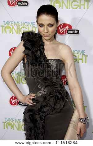 Michelle Trachtenberg at the Los Angeles premiere of 'Take Me Home Tonight' held at the Regal LA Live Stadium 14 in Los Angeles on March 2, 2011.