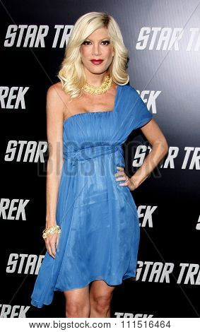 Tori Spelling at the Los Angeles premiere of 'Star Trek' held at the Grauman's Chinese Theater in Hollywood on April 30, 2009.