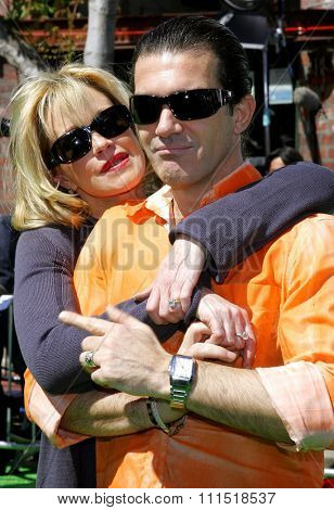 Melanie Griffith and Antonio Banderas attend the Los Angeles Premiere of
